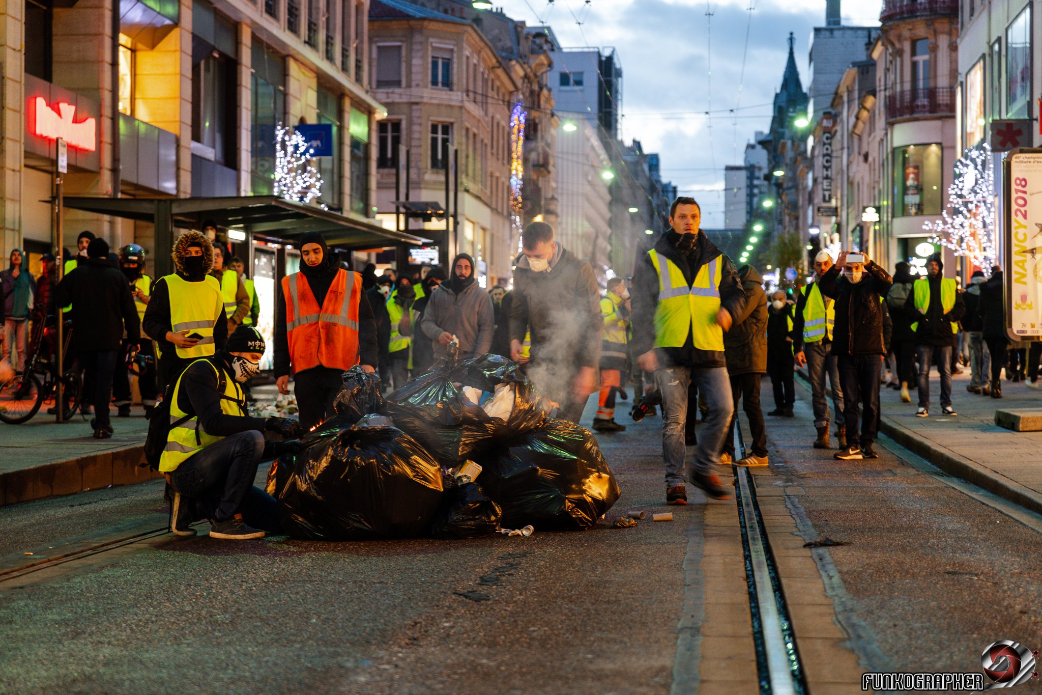 Funkographer, https://funkographer.fr/, gilets jaunes, nancy, 2018